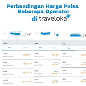 Pulsa murah di traveloka