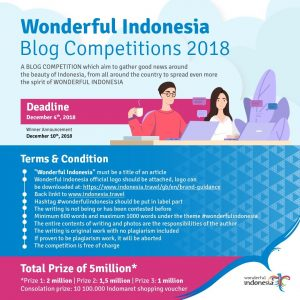 Wonderful Indonesia blogging competition 2018